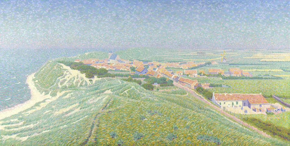 Gezicht op het dorp Zoutelande op Walcheren, Ferdinand Hart Nibbrig van Meesterlijcke Meesters