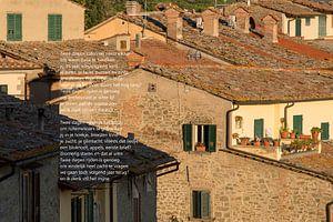 daken in Toscane van Bargo Kunst
