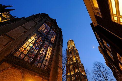 Domkerk en Domtoren in Utrecht (1) van Donker Utrecht