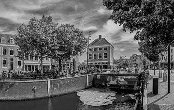 Breda - Hafen - Schwarz und weiß von I Love Breda