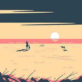 Der Sonnenuntergang Pink von Rene Hamann