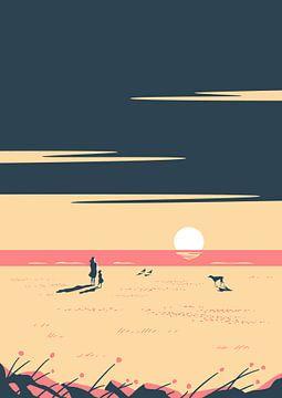 Le rose du coucher du soleil sur Rene Hamann