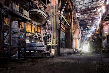 gigiantische staalfabriek van Kristof Ven