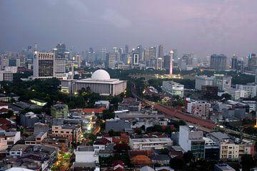 Jakarta skyline von Andre Bolle