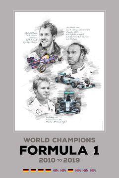 Formule 1-wereldkampioen van 2010 tot 2019 van Theodor Decker