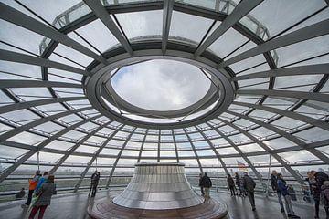 Koepel op de Rijksdag in Berlijn van Peter Bartelings Photography