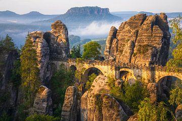 Blick auf die Basteibrücke von Daniela Beyer