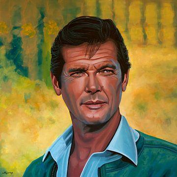 Roger Moore Malerei von Paul Meijering