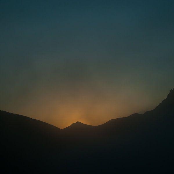 Brandende berg van Douwe Schut