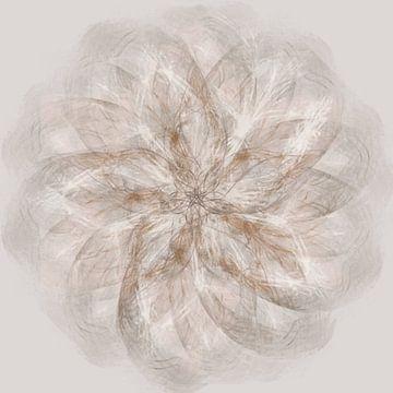 Mandala, spirograaf mit Brauntönen von Rietje Bulthuis