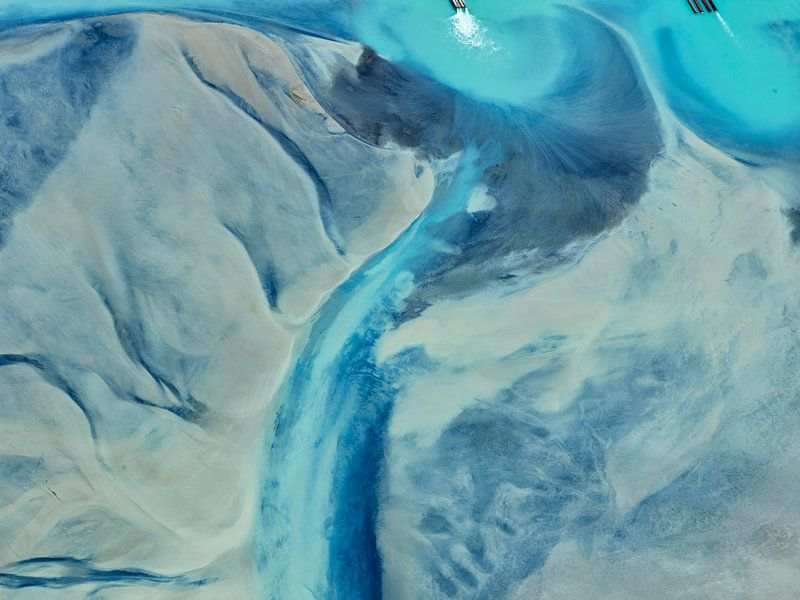 Colours of Water, Cerro Prieto Geotherminal field pekel bassin van Marco van Middelkoop