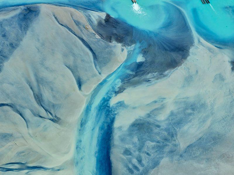 Colours of Water, Cerro Prieto Geotherminal field pekel bassin von Marco van Middelkoop