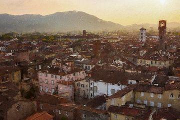 Lucca in Italy van Digitale Schilderijen