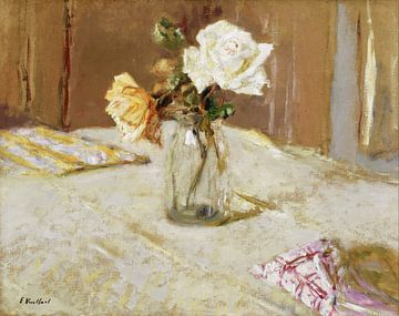 Roses dans un vase en verre, Edouard Vuillard