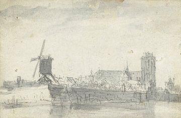 Ansicht von Dordrecht vom Meer, Jan van Goyen (zugeschrieben)