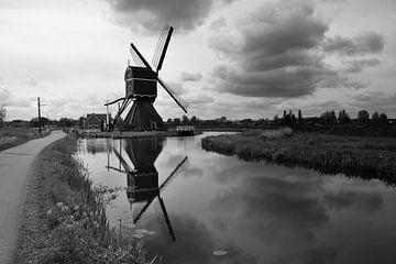 Bonrepasmill bei Vlist in schwarz-weiß von Rob Pols