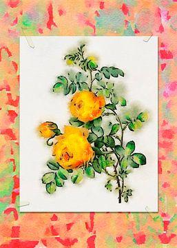 Bloemen in tekenstijl 6 van Ariadna de Raadt