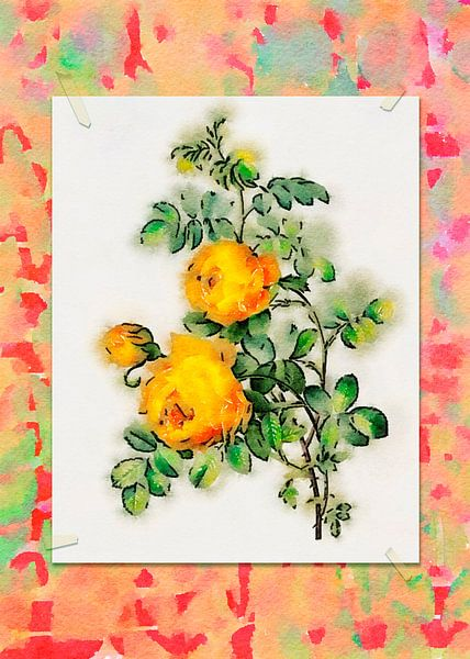 Fleurs en style de dessin 6 sur Ariadna de Raadt-Goldberg