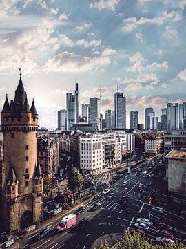 Frankfurt am Main Skyline van Iman Azizi