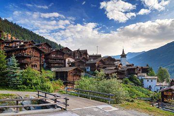Grimentz Zwitserland in de zomer van