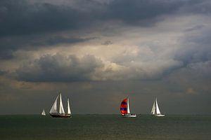 Zeilschepen op het IJsselmeer.