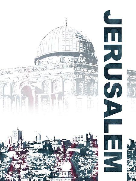 Jeruzalem van Printed Artings