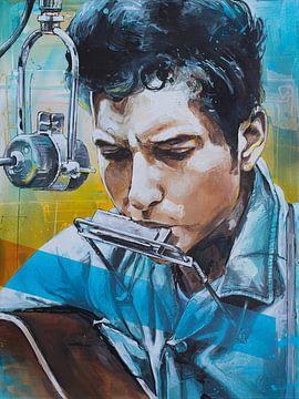 Bob Dylan malerei von Jos Hoppenbrouwers