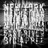 NYC Brooklyn Bridge Typografie No1 van Melanie Viola thumbnail