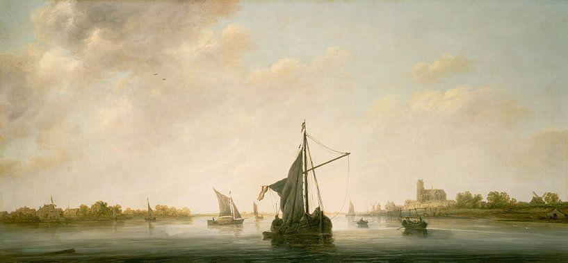 Albert Cuyp. Gezicht op de Maas bij Dordrecht van 1000 Schilderijen