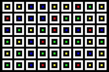 Nested | Center | 09x06 | N=02 | Random #01 | RGBY van Gerhard Haberern