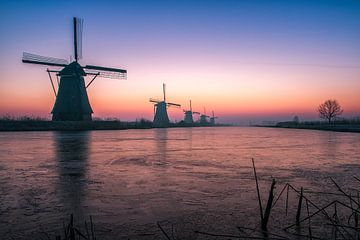 Sonnenaufgang Kinderdijk 4 von Henk Smit