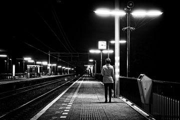 wachten op het treinstation van eric van der eijk