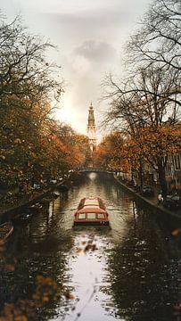 Kanalrundfahrt Boot in Amsterdam von Pieter de Jong