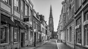 Rechtstraat - Maastricht - Wyck - Mestreech in zwart wit