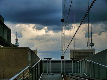 Storm over de daken van Berlijn van RaSch_Design