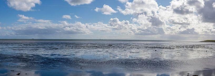 Avond bij de Waddenzee van Marcel Pietersen