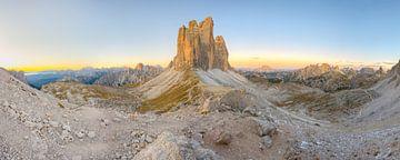 Tre Cime di Lavaredo en Paternsattel Panorama van Michael Valjak
