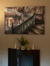 """Kundenfoto: Lost Place - Villa """"ums Eck"""" von Carina Buchspies, auf leinwand"""
