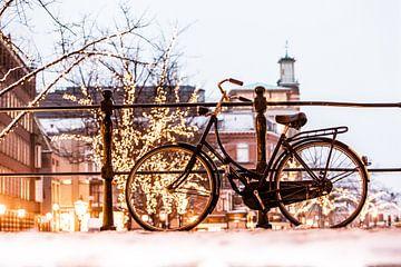 Leiden avond licht in de winter von Frans Nijssen
