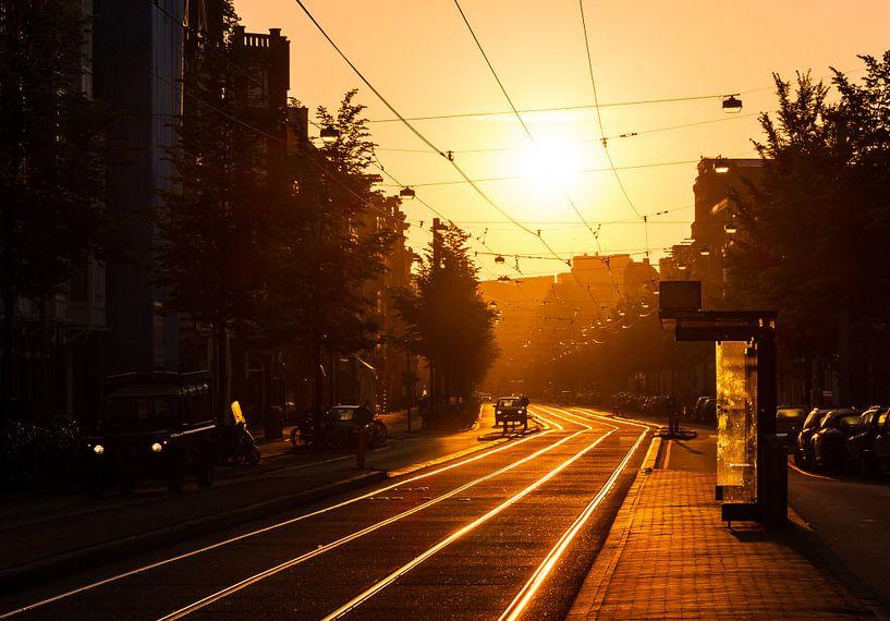 Amsterdam Overtoom zonsopkomst van Dennis van de Water