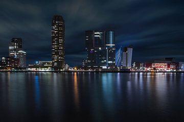 Kop van Zuid, Rotterdam bij nacht van Arjen Roos
