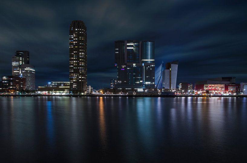 Kop van Zuid, Rotterdam in der Nacht von Arjen Roos