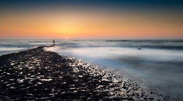 Zonsondergang Noordzee sur Keesnan Dogger Fotografie