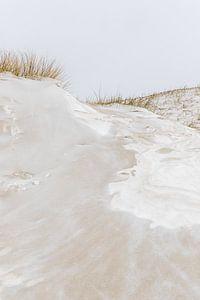 Met sneeuw bedekte duinen | Winterlandschap Nederland Den Haag van Dylan gaat naar buiten
