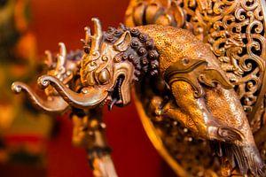 Deurknop in het Ganden Thubchen Choekhorling Klooster in Litang van