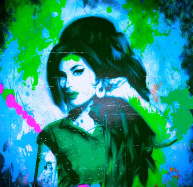 Amy Winehouse Pop Art PUR van Felix von Altersheim