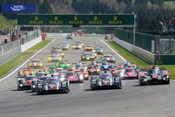 World Endurance Championship race start op Spa Francorchamps van Sjoerd van der Wal
