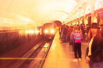 Metro am Morgen von Rene van Heerdt