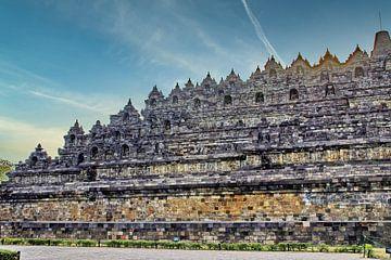 Ostseite Borobudur von Eduard Lamping