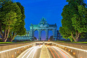 Jubelpark in Brussel in de avonduren van Werner Dieterich